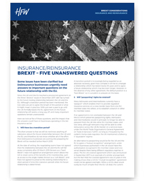 Insurance and reinsurance Brexit considerations