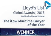 Maritime Lawyer of the Year. Also won in 2012, 2009, 2008 and 2004