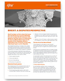 Dispute resolution Brexit considerations