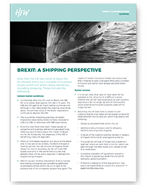Shipping Brexit considerations