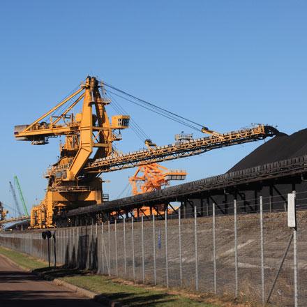 Australican coal crane