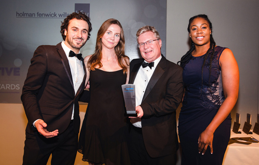 HFW win Law firm of the Year 2017 at UK Captive Services Awards