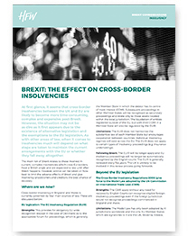 Insolvency Brexit considerations