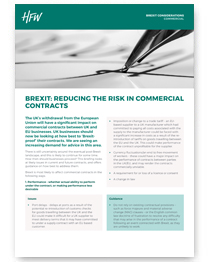 Commercial contracts Brexit considerations