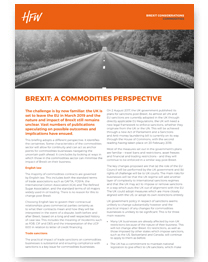 Commodities Brexit considerations