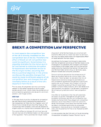 Competition Brexit considerations